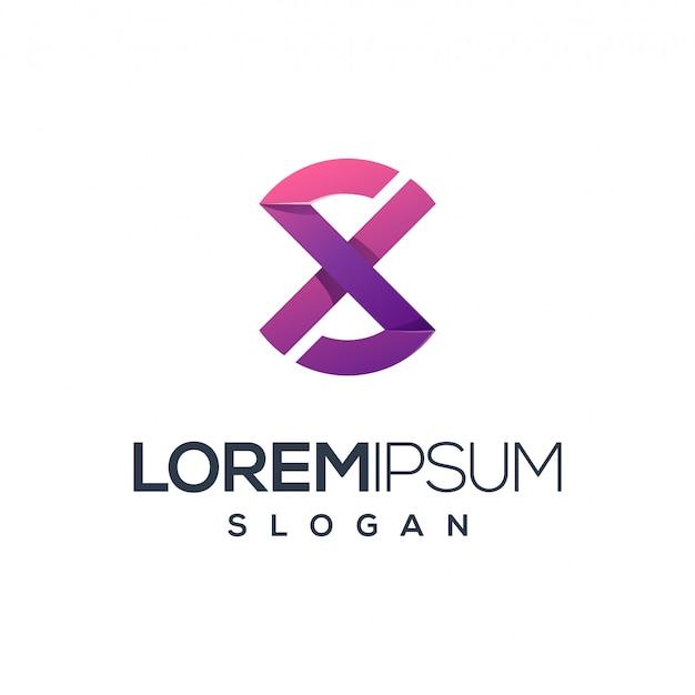 Carta x design de logotipo, vetor, ilustração pronto para usar para sua empresa