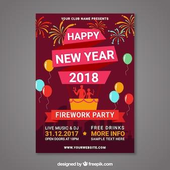 Cartão 2018 do ano novo