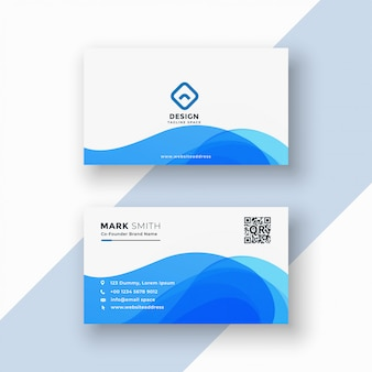 Cartão à moda azul abstrato
