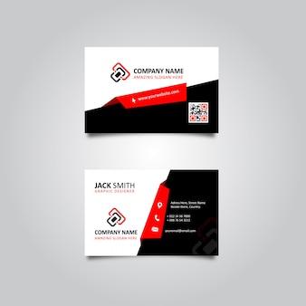 Cartão à moda esperto vermelho & preto