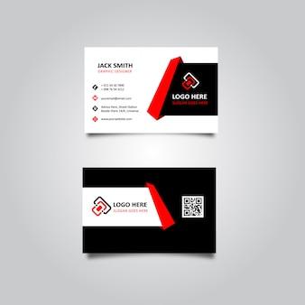 Cartão à moda vermelho e preto
