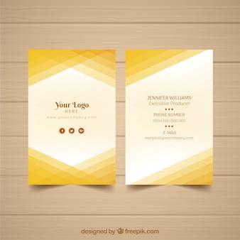 Cartão abstrato abstrato amarelo