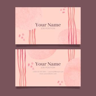 Cartão abstrato com elementos pintados à mão Vetor Premium