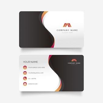 Cartão abstrato com ondas gradientes