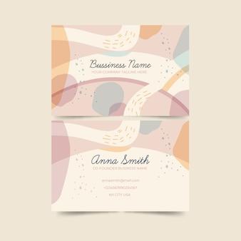 Cartão abstrato com pacote de modelo de manchas de cor pastel