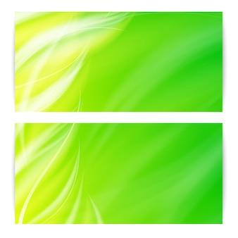 Cartão abstrato de luz verde.