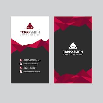 Cartão abstrato do triângulo