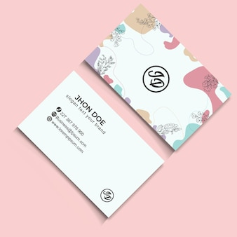 Cartão abstrato retrô de flores tropicais