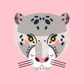 Cartão adorável de leopardo fofo