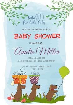 Cartão adorável do chuveiro de bebê