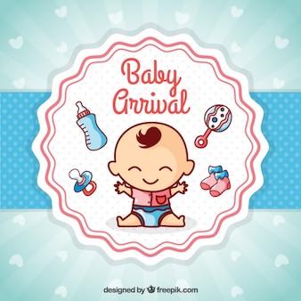 Cartão agradável chegada do bebê