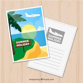 Cartão agradável de verão