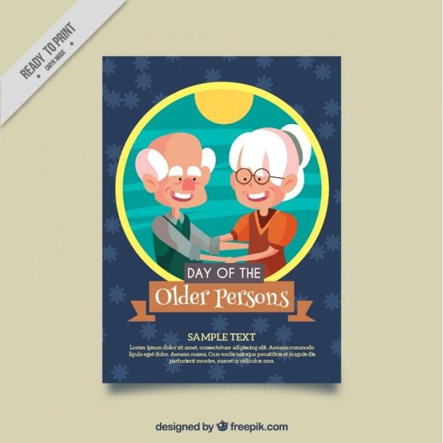 Cartão agradável do dia as pessoas mais velhas