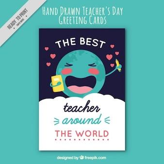 Cartão agradável do dia do professor