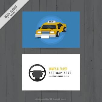 Cartão agradável para os motoristas de táxi
