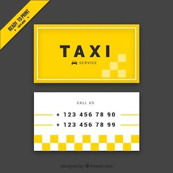 Cartão amarelo abstrato de motorista de táxi