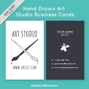 Cartão artístico do estúdio de arte