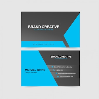 Cartão azul corporativo