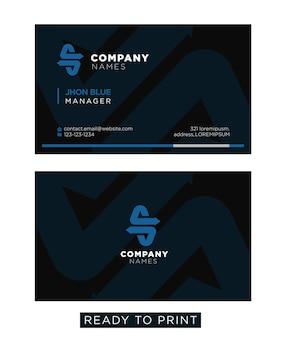 Cartão azul do negócio