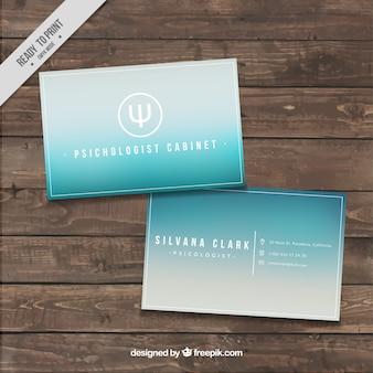 Cartão azul incorporado elegante