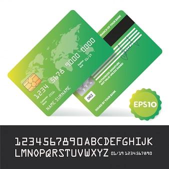Cartão bancário de negócios bancários e pagamento