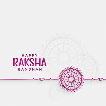 Cartão bandhan do festival de raksha