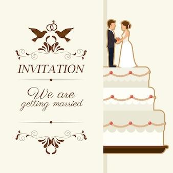 Cartão bonito de casamento