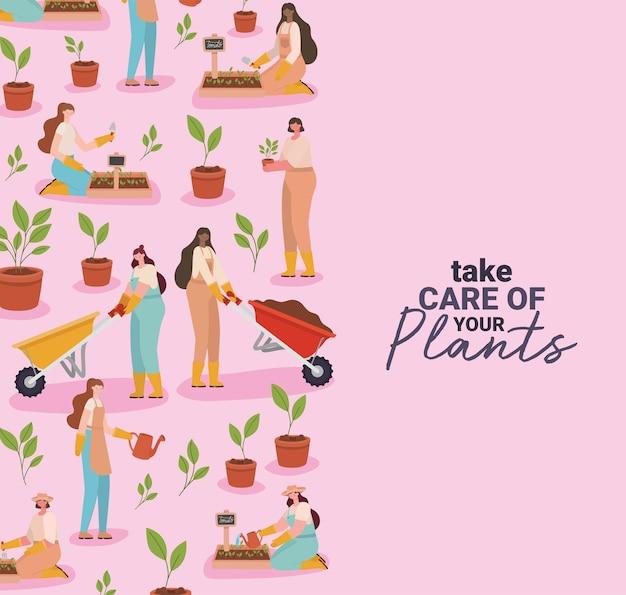 Cartão bonito de jardinagem