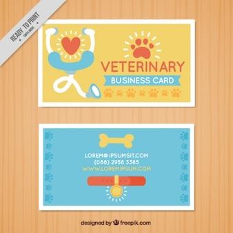 Cartão bonito de veterinária