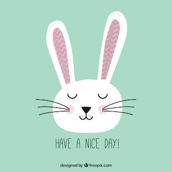 Cartão bonito do coelho