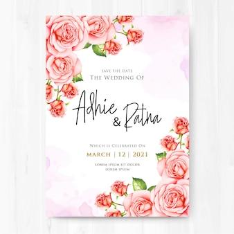 Cartão bonito do convite do casamento