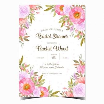 Cartão bonito do convite do chá de panela