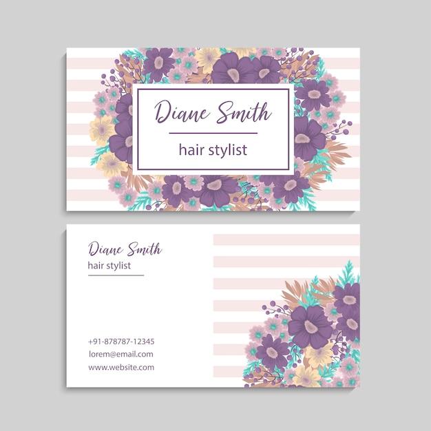 Cartão bonito do design floral
