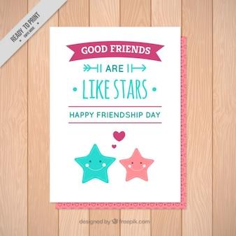 Cartão bonito do dia da amizade