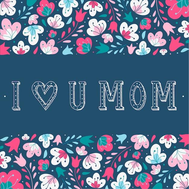 Cartão bonito do dia das mães