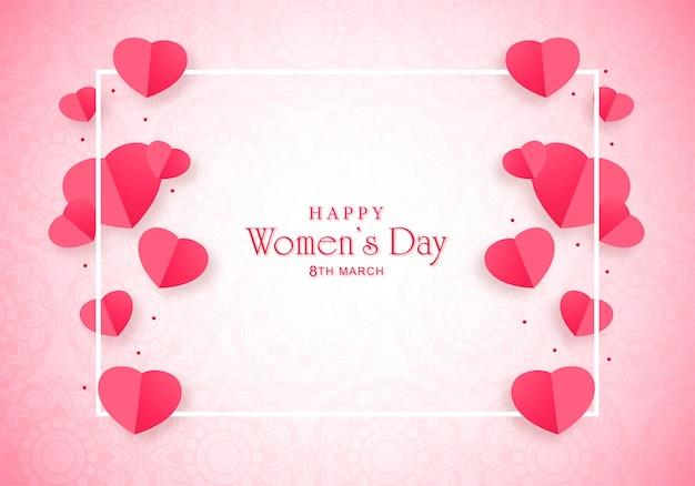 Cartão bonito do dia das mulheres felizes