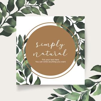 Cartão bonito quadro natural