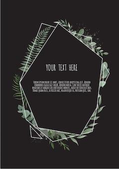 Cartão botânico floral de vetor