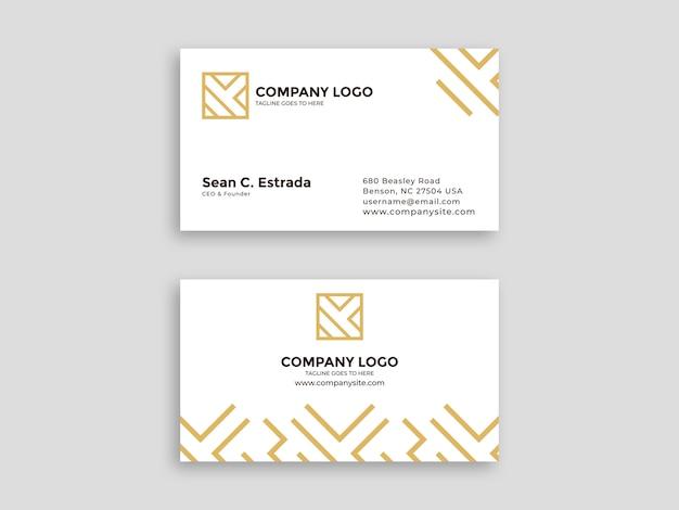 Cartão branco com padrão de luxo