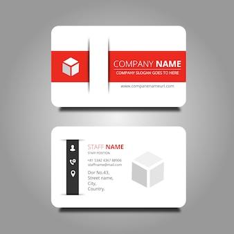 Cartão branco e vermelho