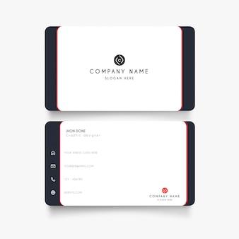 Cartão branco mínimo
