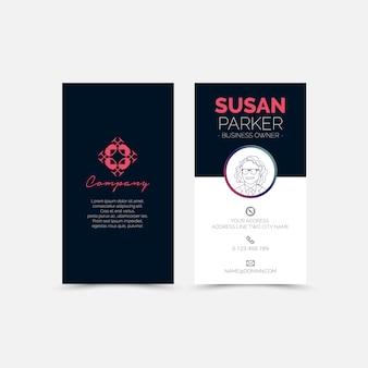 Cartão busines com avatar