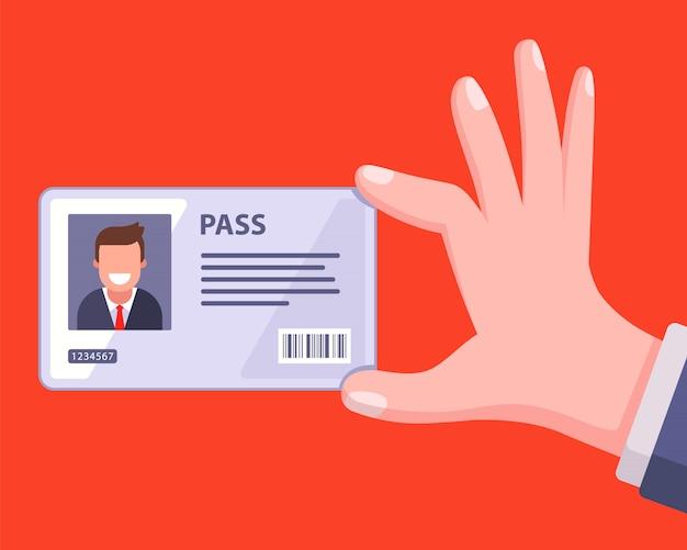 Cartão-chave pessoal para o funcionário entrar no escritório.