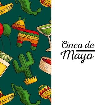 Cartão cinco de mayo