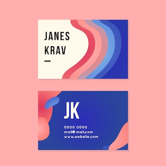 Cartão colorido abstrato