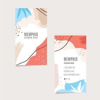 Cartão colorido com formas abstratas