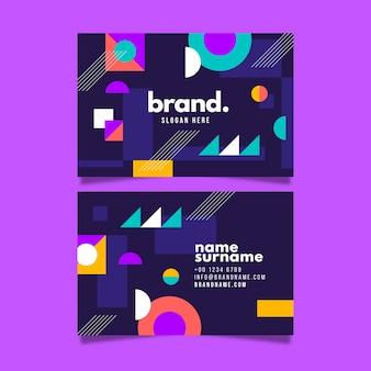 Cartão colorido com formas