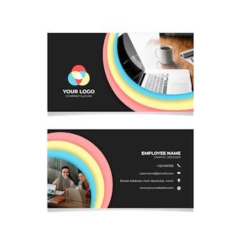 Cartão colorido com foto