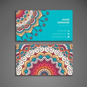 Cartão colorido com mandala