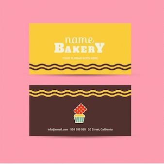 Cartão colorido da padaria